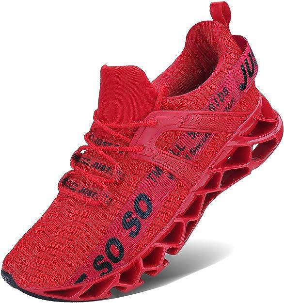 Jsleap Sneakers Herren Damen Unisex Rot