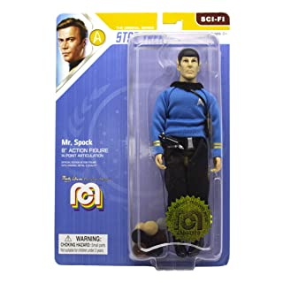 """Mego Action Figures, 8"""" Star Trek - Mr. Spock in Blue Shirt with Tribbles from The The Original Series Episode The Trouble with Tribbles  (Limited Edition Collector's Item)"""
