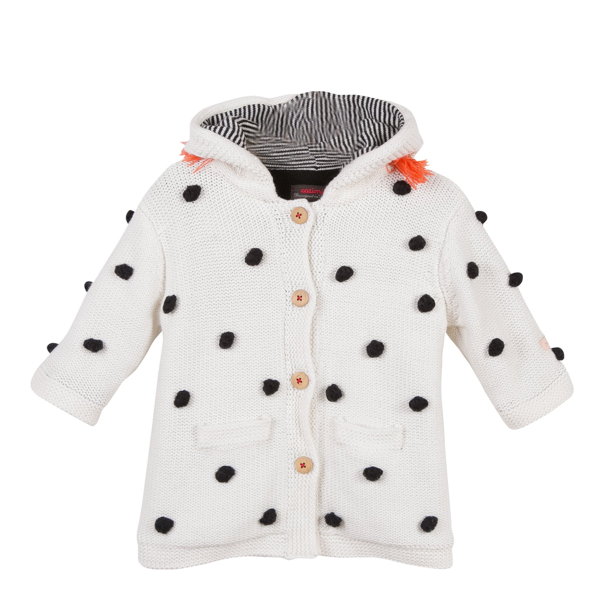 Catimini hooded pompom coat (9M) by Catimini (Image #1)