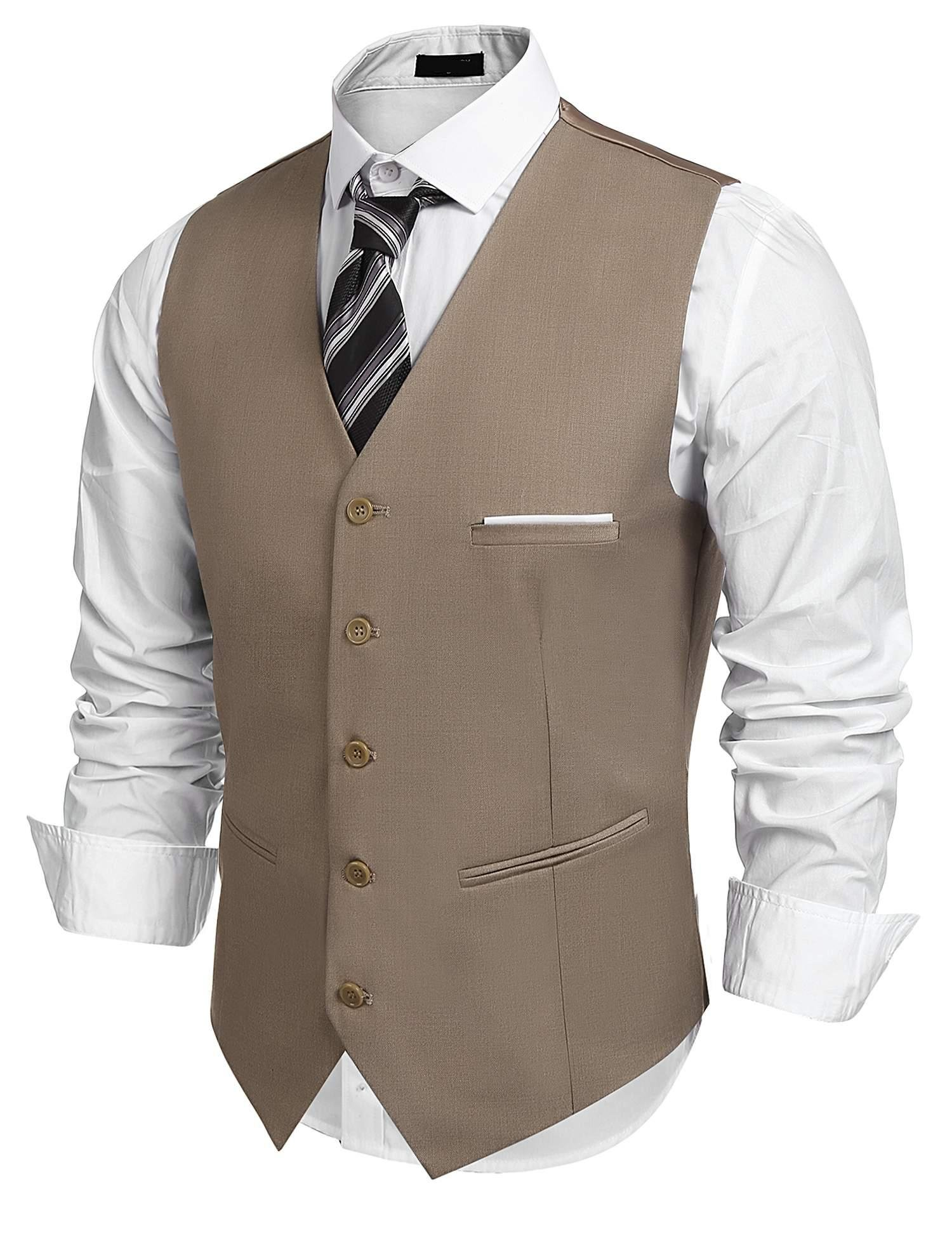edited Mens Waistcoat Single Breasted Sleeveless Blazer Formal Business Dress Suit Vest