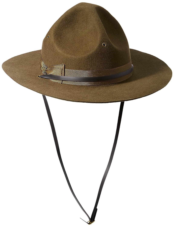 66cfefeca1b Scala Men s Wool Felt Campaign Hat at Amazon Men s Clothing store