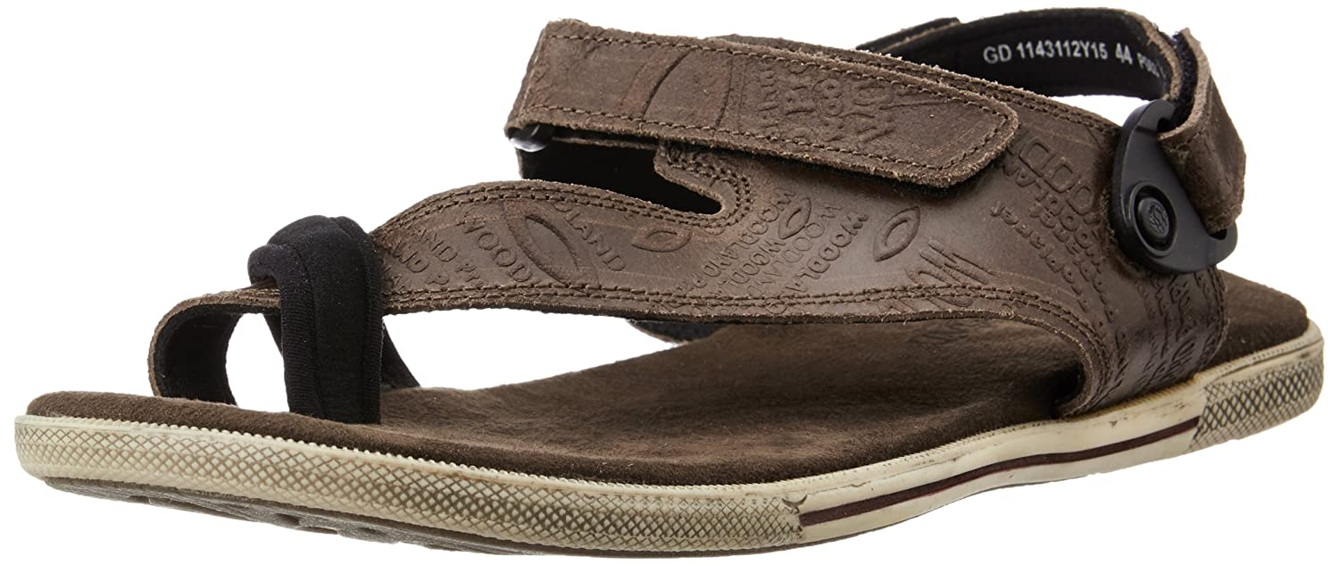 4eaf81cc9ca46 Woodland Mens Velcro Closure Casual Sandal Brown 11  Buy Online at Low  Prices in India - Amazon.in