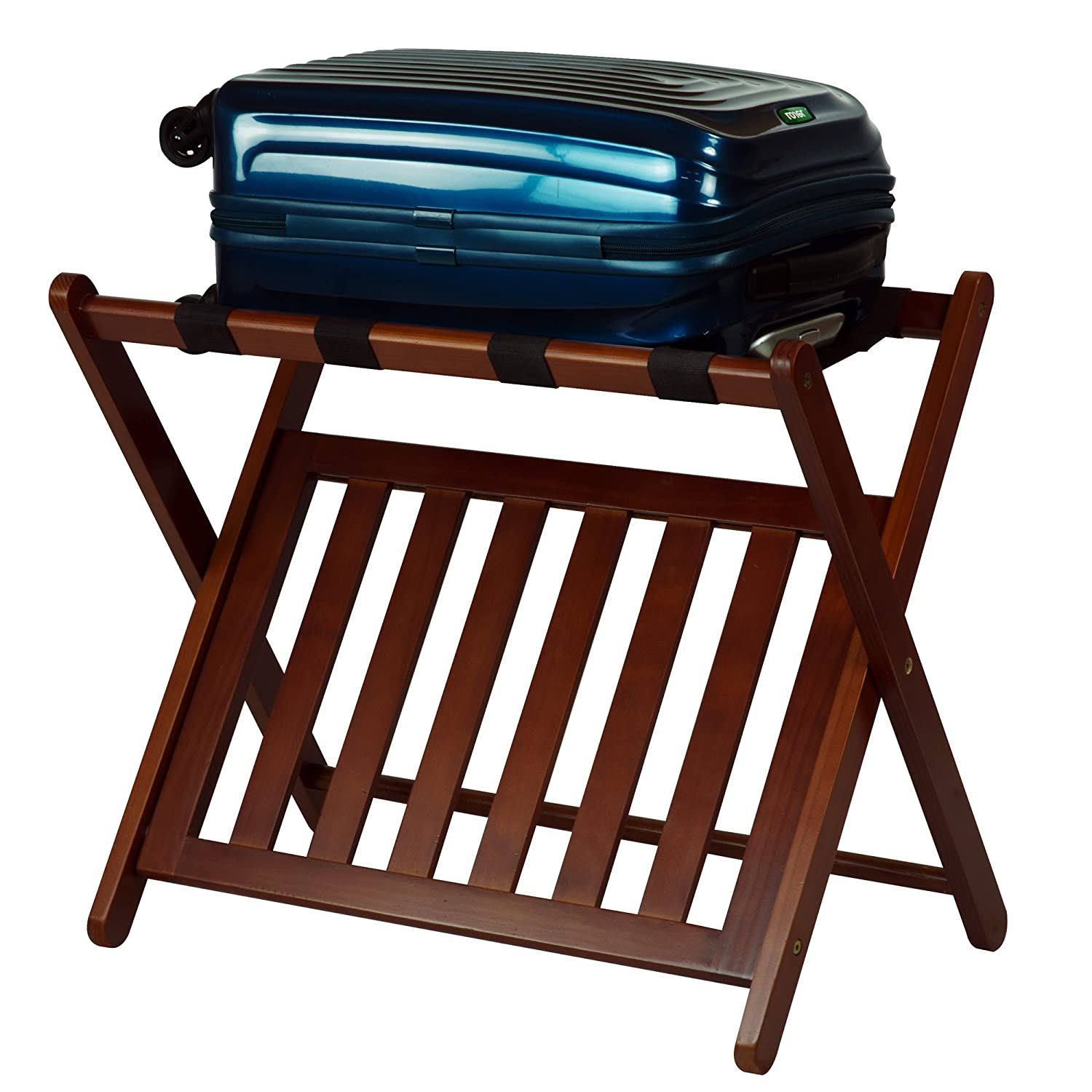 Amazon.com: Casual Home Luggage Rack with Shelf: Home & Kitchen