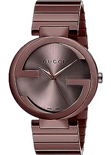 Gucci Swiss Quartz Metal and Alloy Dress Brown Mens Watch(Model: YA133211)