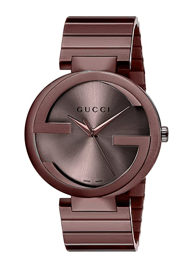 c3826274d6b Amazon.com  Gucci Swiss Quartz Metal and Alloy Dress Brown Men s Watch(Model   YA133211)  Gucci  Watches