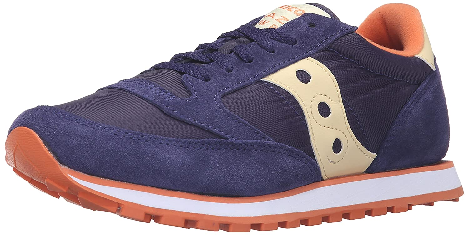 Saucony Originals Women's Jazz Low Pro Sneaker B0189PIPB8 7.5 B(M) US|Blue/Cream