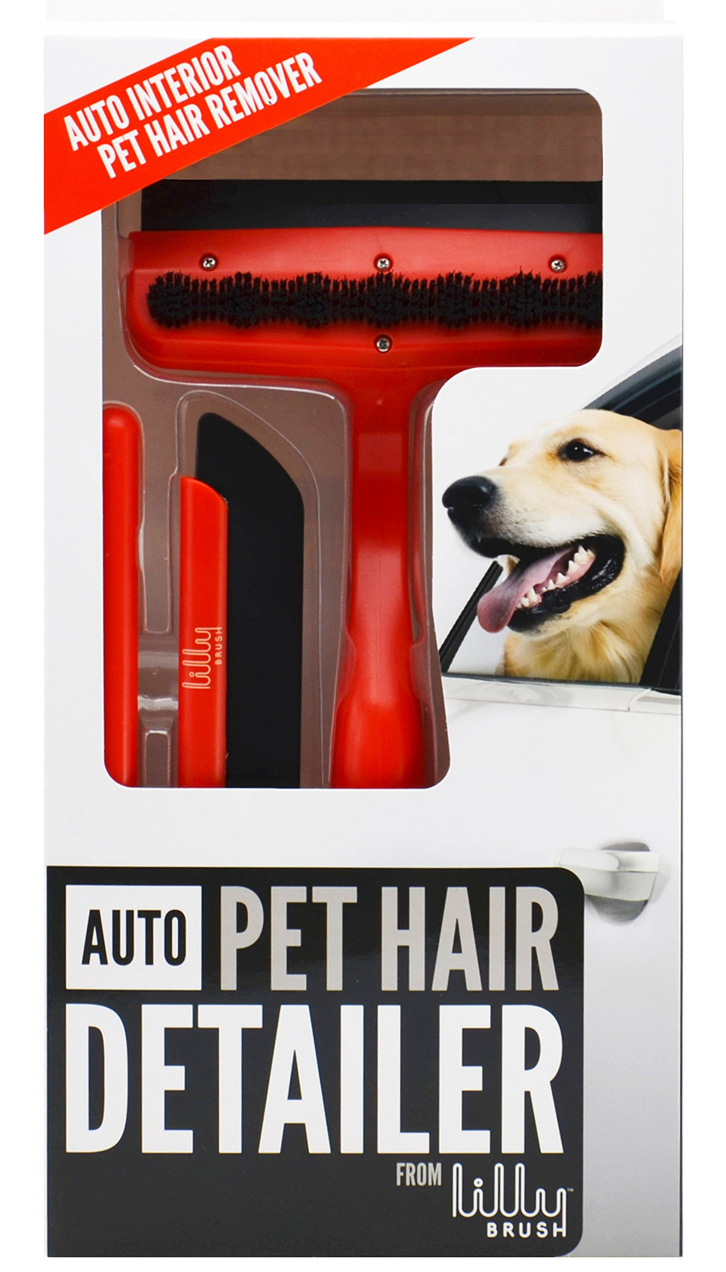 Lilly Brush Auto Pet Hair Detailer-(for Short, Straight, WIRY Hair That embeds Itself into car Carpets) by Lilly Brush