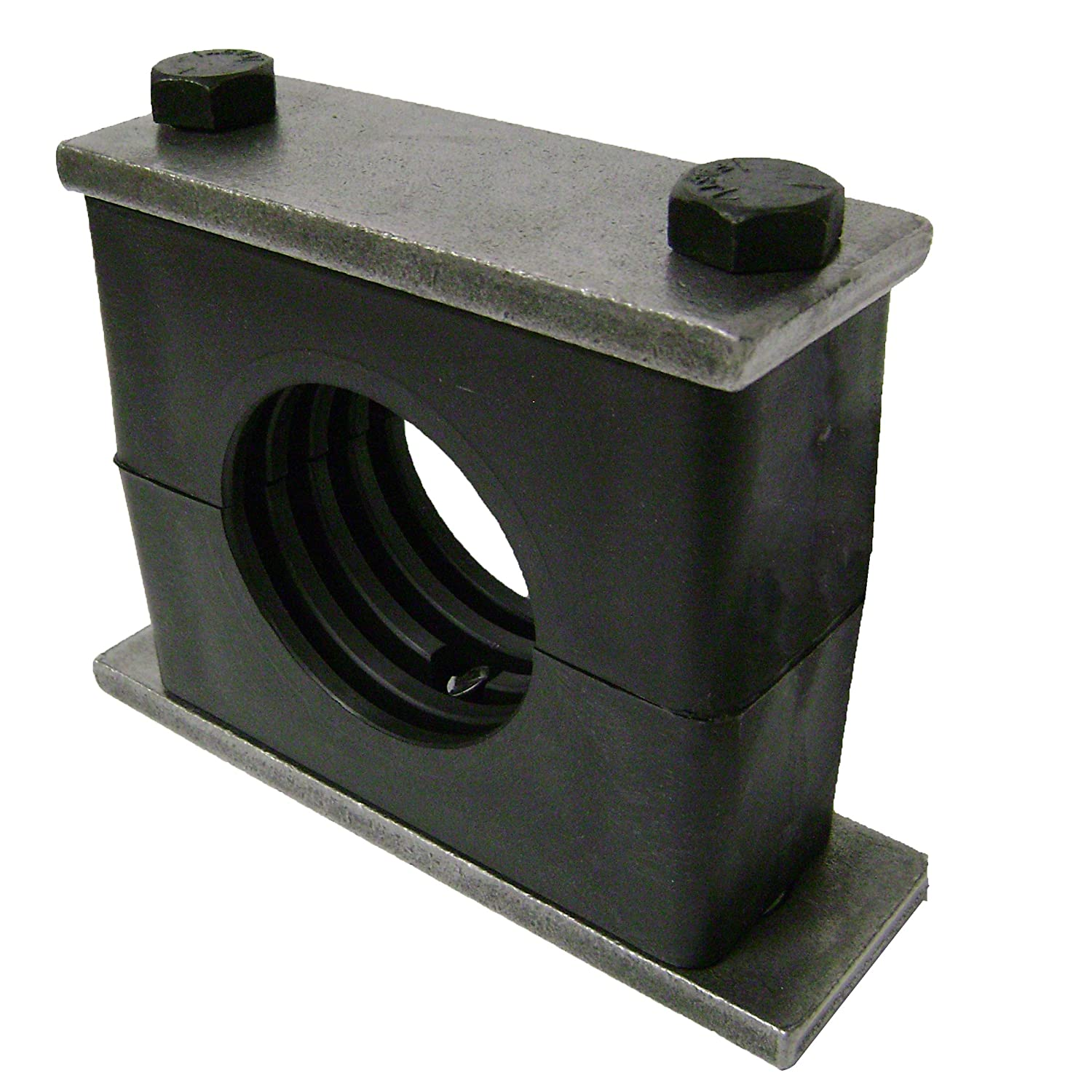 1-1//2 Pipe Size Polypropylene with Plain Carbon Steel Hardware Behringer Heavy Series Pipe Clamp Weld Mounting