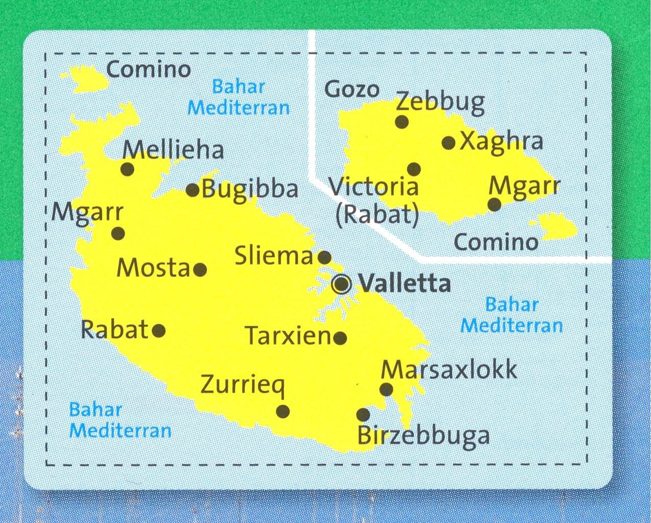 Cartina Di Malta Dettagliata.Amazon It Malta E Gozo Carta Escursionistica 1 25 000 Kompass N 235 Kompassmaps Libri