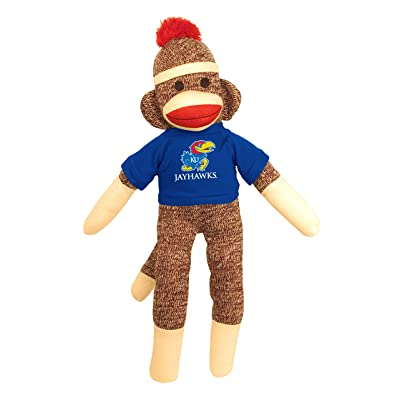 Pennington Bear Kansas Jayhawks 20 inches Sock Monkey Plush Toy: Toys & Games