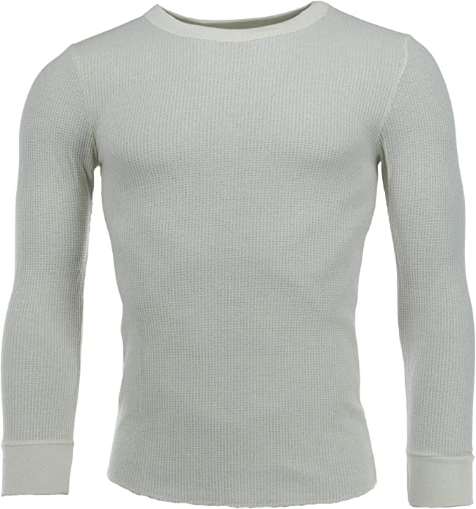 Fruit of the Loom Mens Waffle Weave Crew Neck Thermal Top