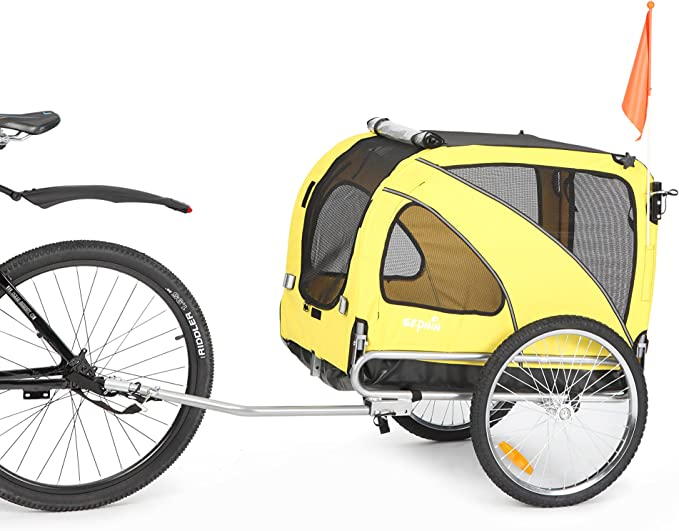Sepnine 2 in1 Medium pet Dog Bike Trailer - Most Durable Trailer