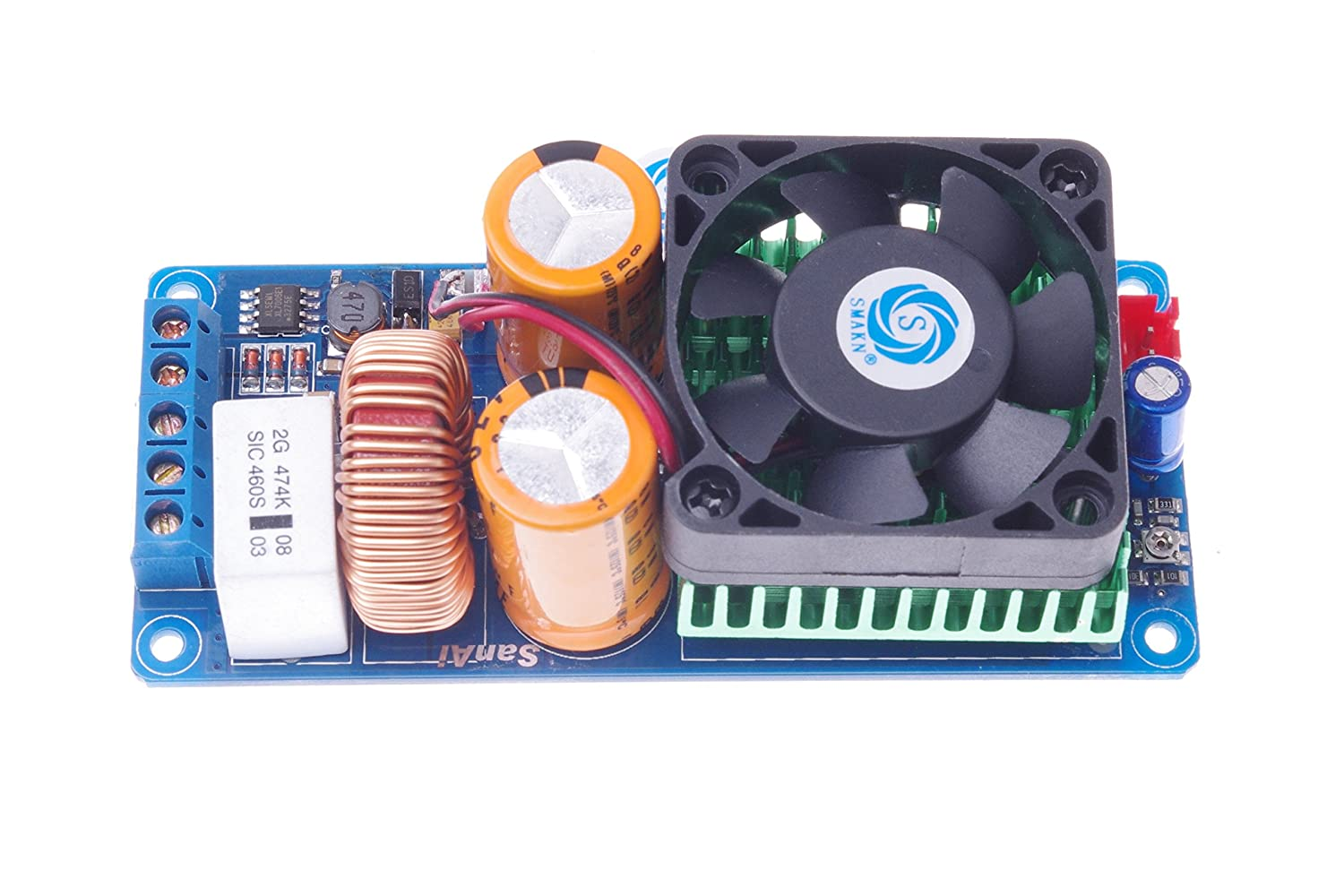 Smakn Irs2092s 500w Amp Board High Power D Class Hifi Digital Powertronix Inductor Amplifier Single Mono Channel Musical Instruments