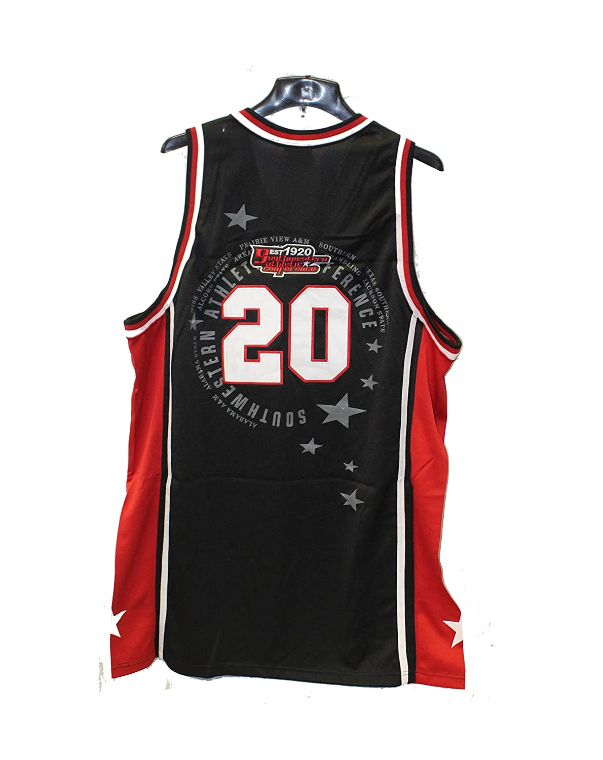 84b4eedaa77 Amazon.com   Black SWAC Championship Team Logo Heavyweight Throwback  Basketball Jersey   Sports   Outdoors