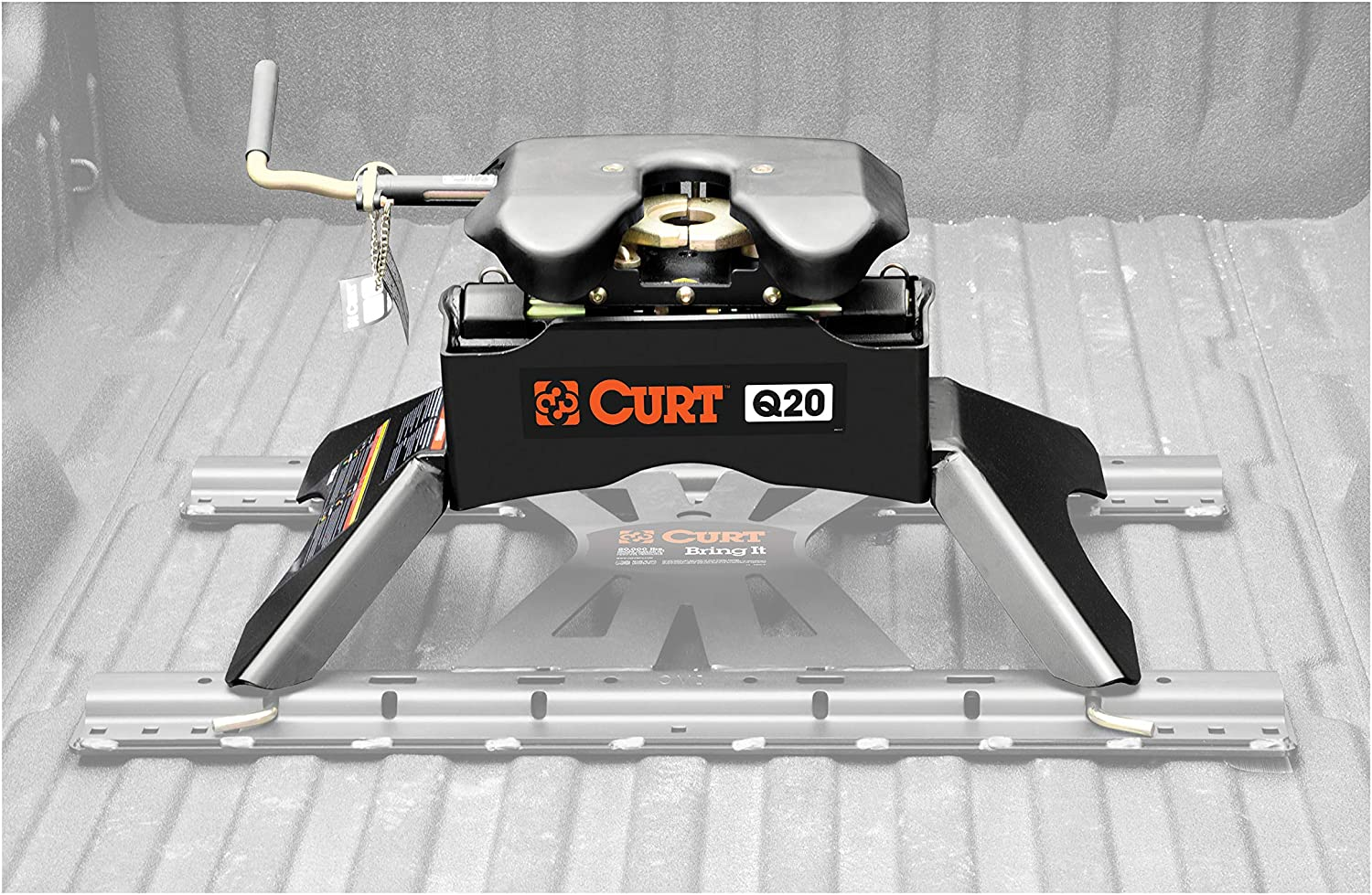 20,000 lbs CURT 16130 Black Q20 5th Wheel Hitch
