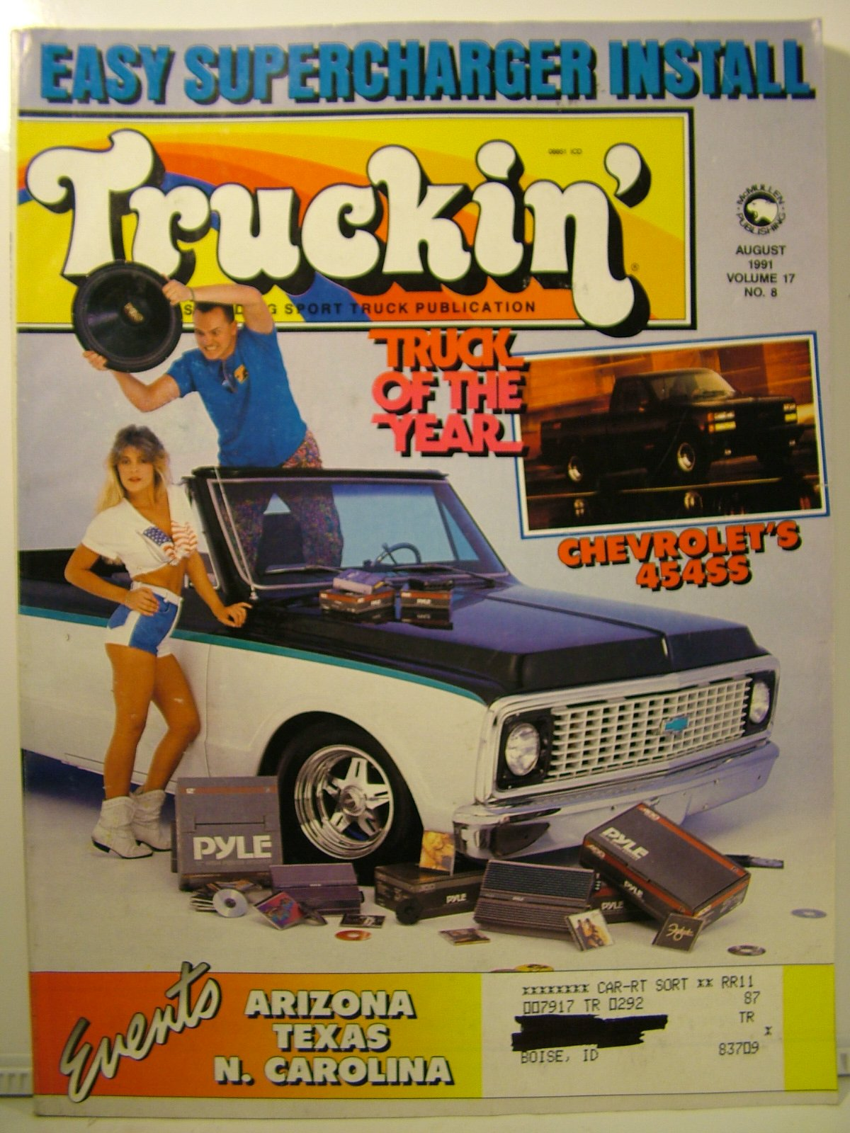Truckin' Magazine August 1991 Easy Supercharger Install