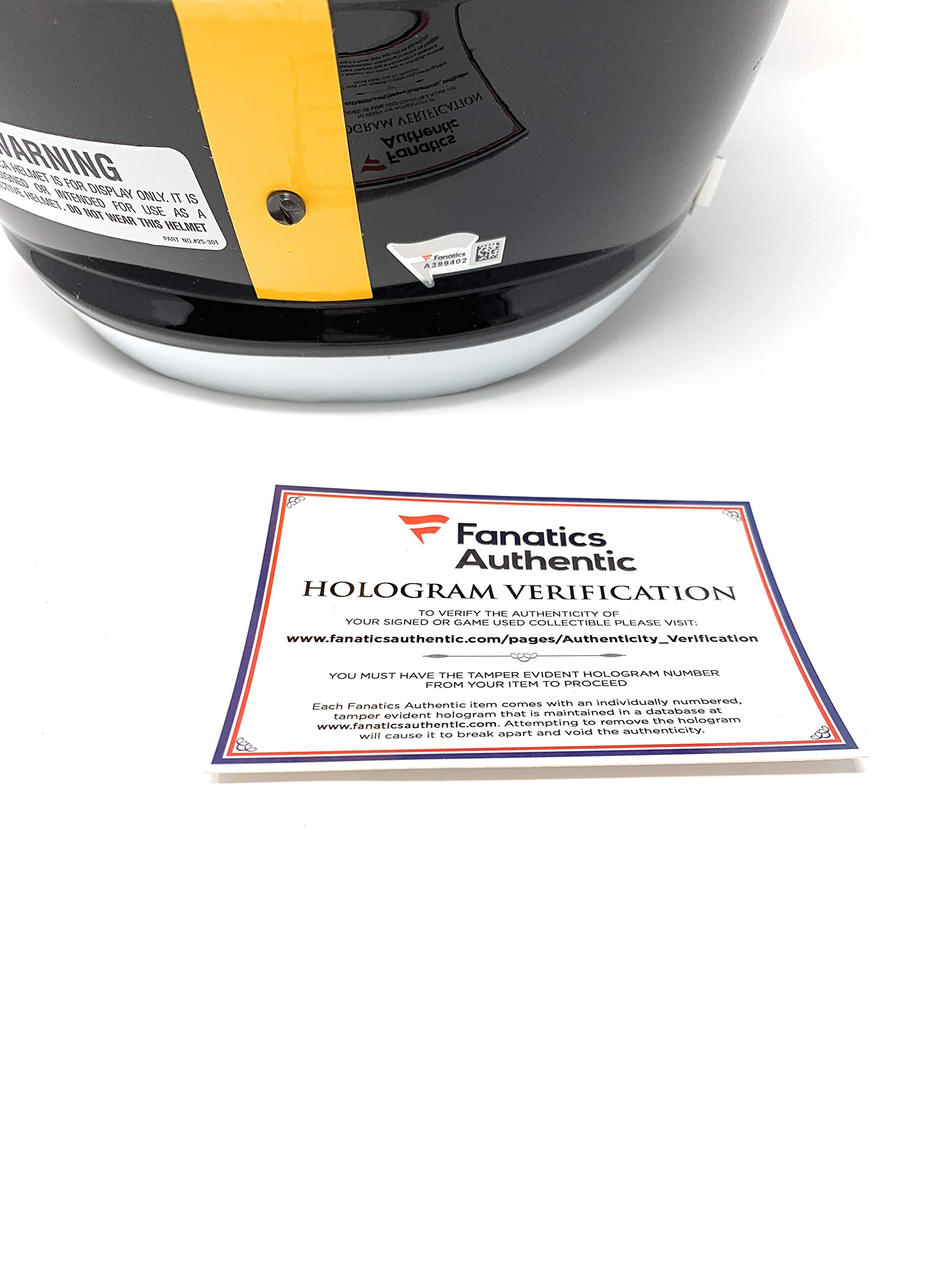 Ben Roethlisberger Pittsburgh Steelers Signed Autograph Full Size Speed Helmet Fanatics Authentic Certified