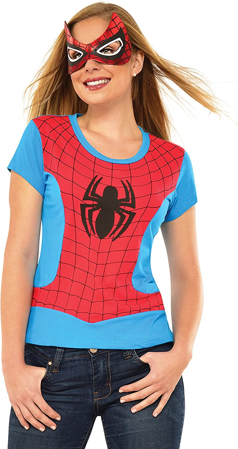 Adult Spider-Girl Rhinestone Top and Mask