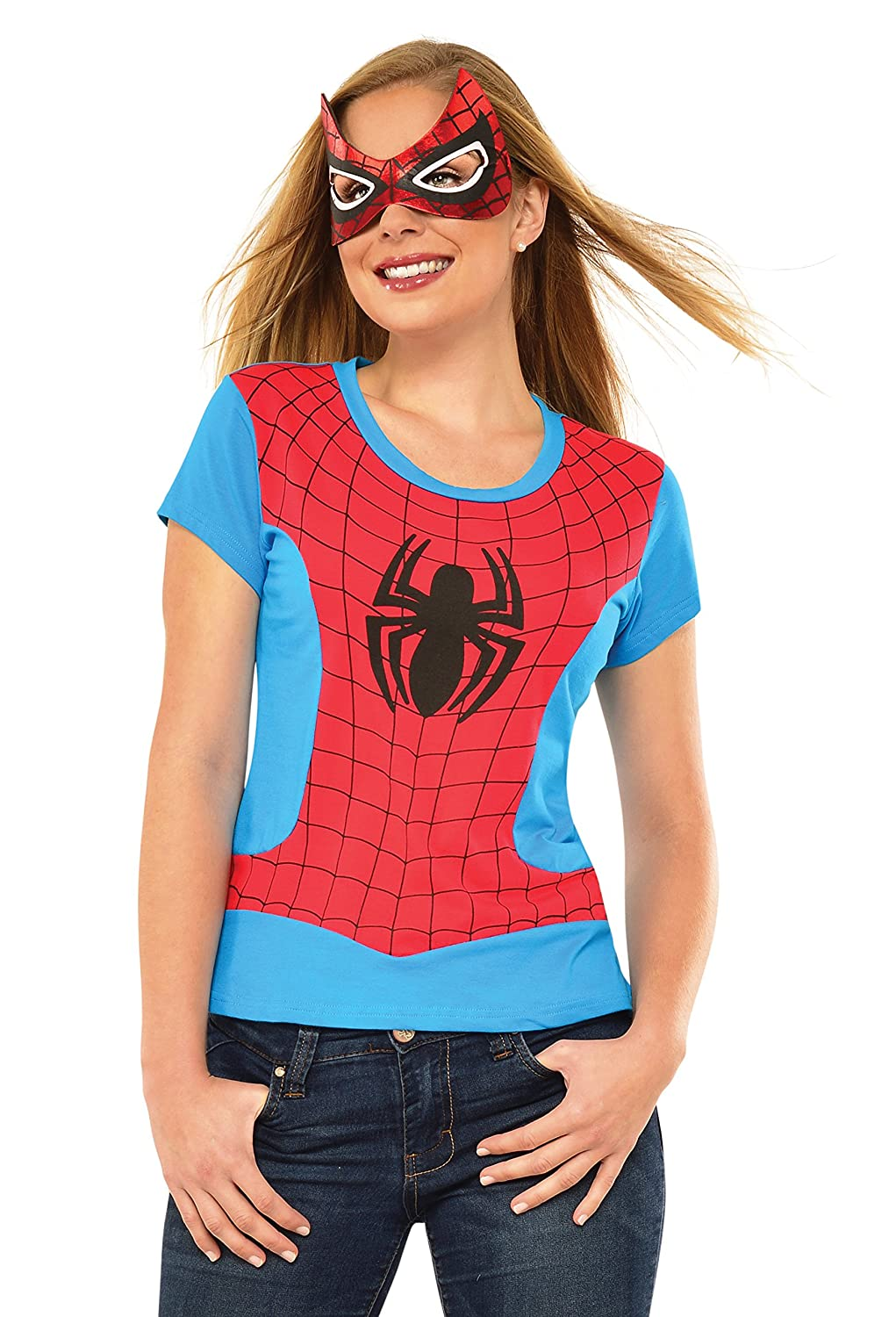Marvel Rubie's Costume Co Women's Universe Spider-Girl Classic T Shirt Rubies Costumes - Apparel 810422