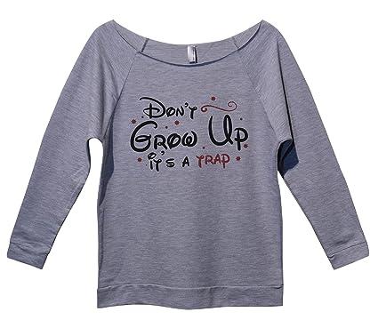 Trendy Womens Disney Tops  quot Dont Grow Up Its a Trap quot  Royaltee  Shirts Small 7ecba0f89d