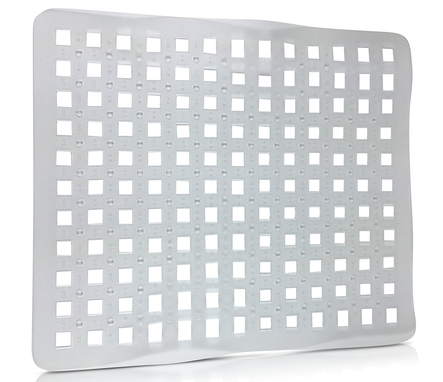 Amazon SET OF 2 Clear Sink Mat Basin Protector Perforated
