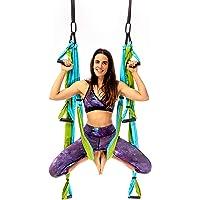 Yogabody Yoga Trapeze Pro - Yoga Inversion Swing with Free Video Series, Aqua