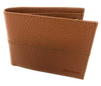 b13d0b5346f4 Amazon.com: Cole Haan Pebbled Leather Men's Bifold Billfold Wallet ...