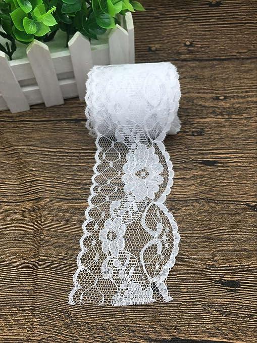 10 Yardas//Rollo 4.5cm DIY Cinta de Encaje Ropa Tela de Costura Decoraci/ón de Cinta de Encaje Hermosa Tela de Encaje