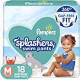 Pampers Splashers Disposable Swim Diapers Size M, 18 Count