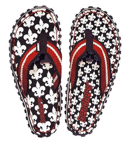 Beachers   Fleur de France   Zehentrenner / Sandale   schwarz / weiß / rot