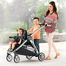 Chicco Carriola BravoFor2 Travel System Zinc