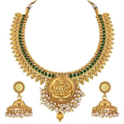 c03b31fd1cf30 Spargz Gold Plated Tample Jewelry Set for Women