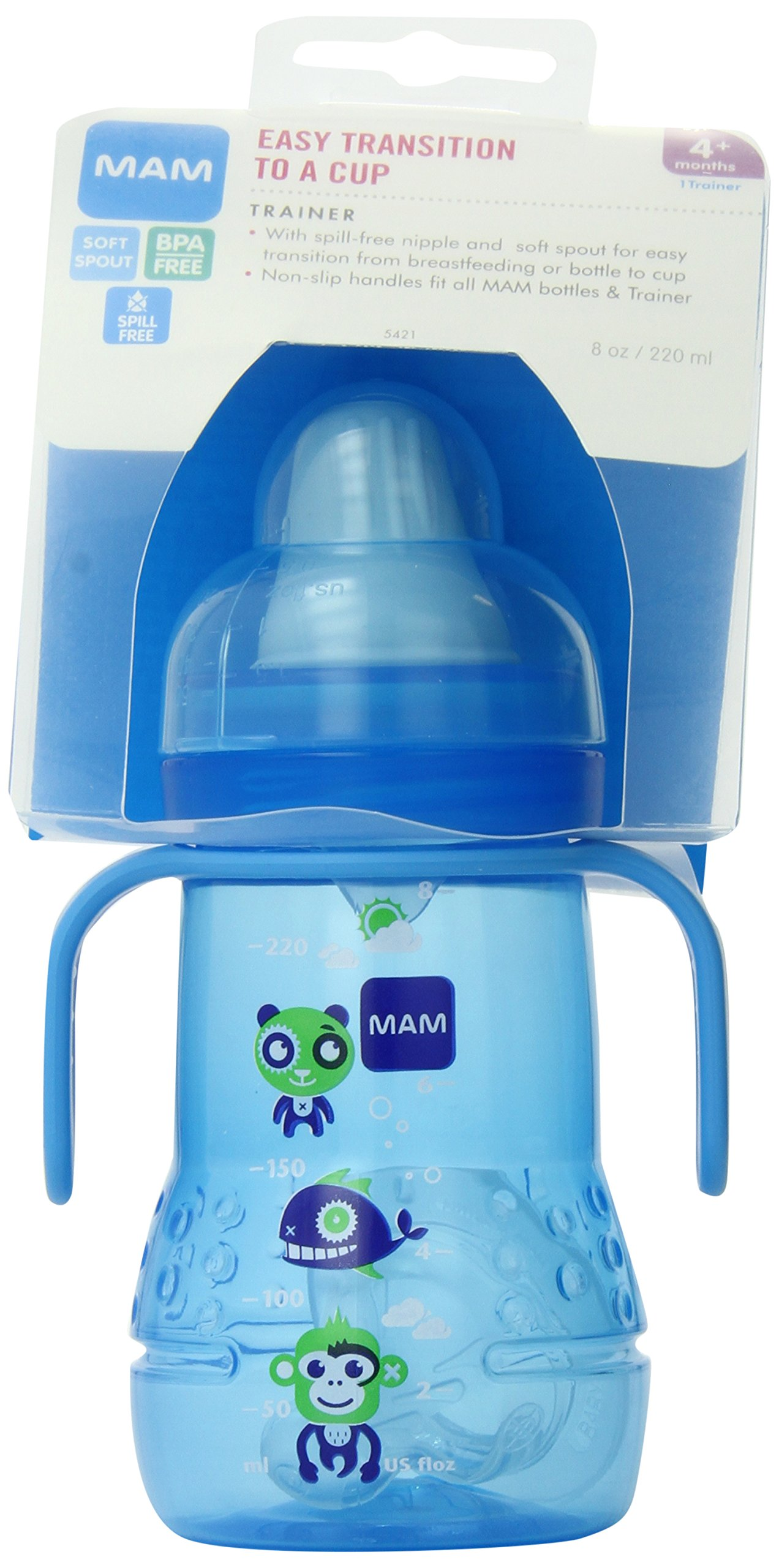 Mam Trainer With Handles Boy 8 Ounces 1-Count 6