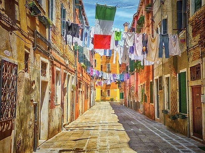 Amazon.com: Laundry Picture Decor Italy Wall Art Venice Wall Décor ...