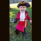 Amazon.com: Disfraz de Capitán Hook para niños ...