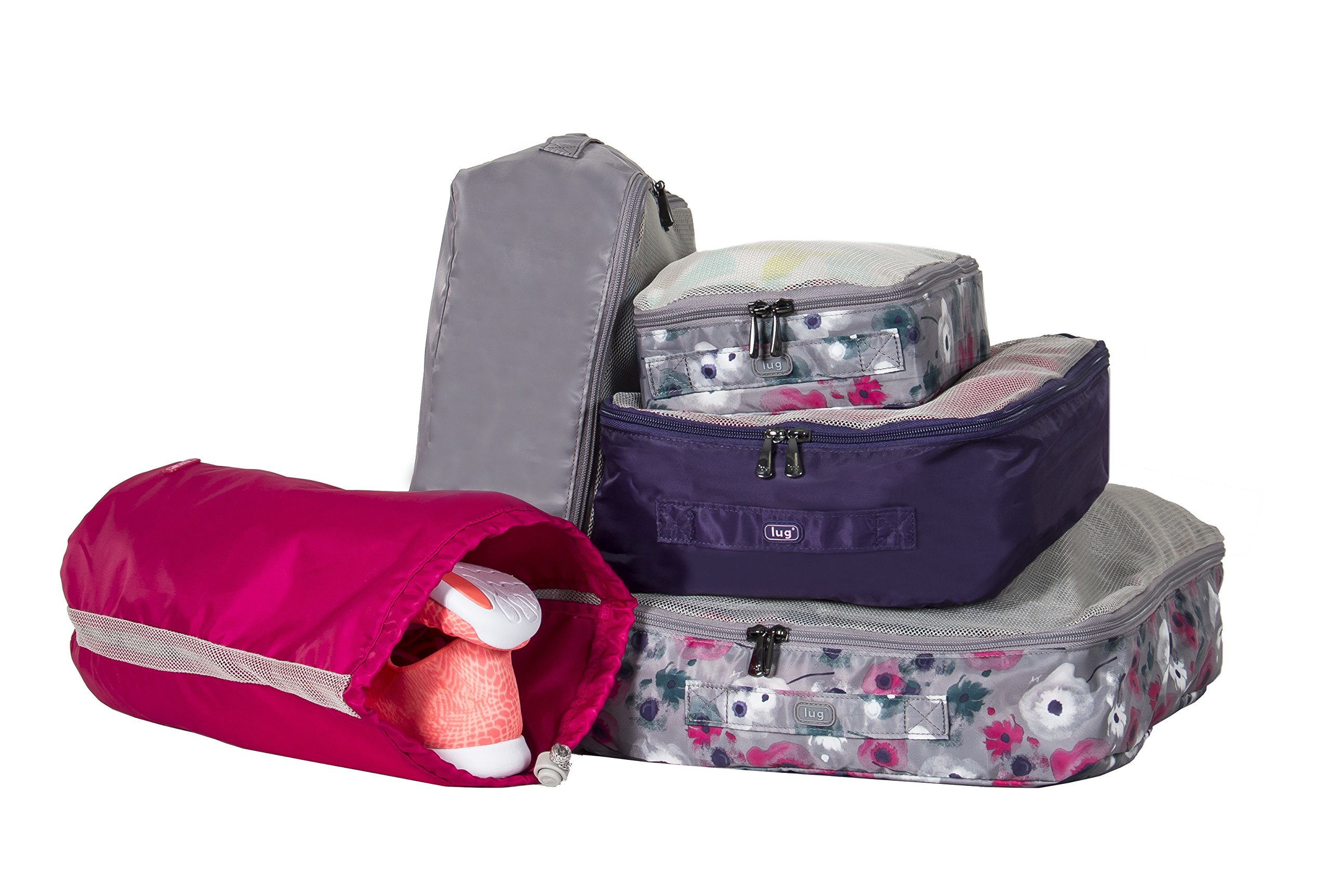Lug Cargo 5 Piece Packing Kit, Watercolour, Floral Water Colour