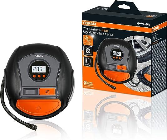 Osram Tyreinflate 450 Digitale Reifenpumpe Mit Auto Stopp Und Led Licht Tragbarer 12v Kompressor Für Autoreifen Stromanschluss Via Zigarettenanzünder Reifenbefüllung In 3 5 Minuten Auto