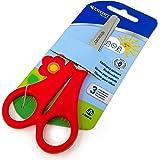 Westcott Right Handed Kid's Children's Scissors with Ruler Edge & Blunt Ended Tip Safety Scissors Carded - [E-20590 00]