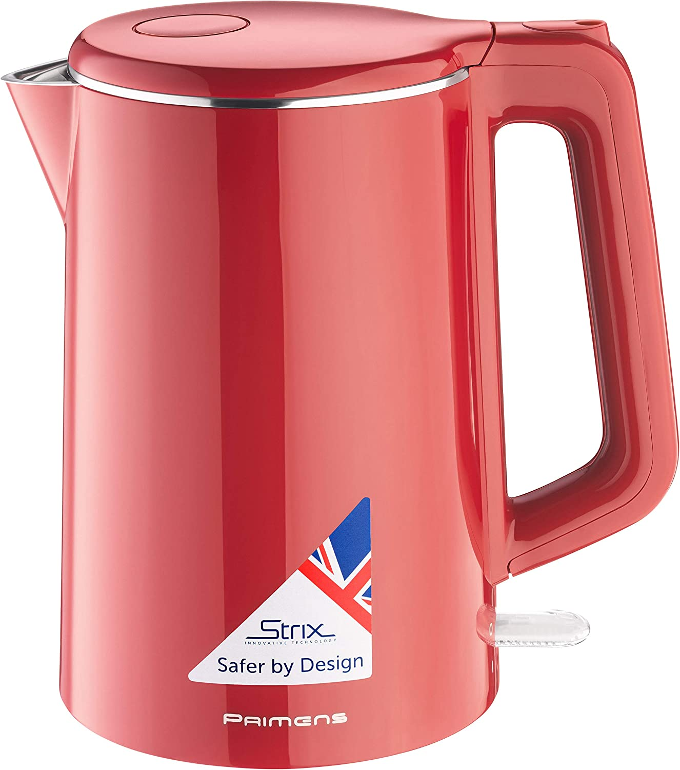 Electric Tea Kettle, Hot Water Electric Kettle 100% Stainless Steel(BPA-Free), Double Wall Cool Toch, 1.5L Water Heater/Boiler Cordless Kettle, Fast Boil 1500W, Auto Shut Off, Best Boil-Dry Protection