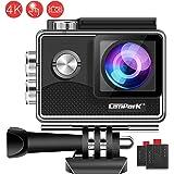 Campark X15 4K Action Cam Touchscreen EIS Stabilisierung WiFi Unterwasserkamera 16MP 170 ° mit 2 1050mAh Batterien und Multiples Zubehör