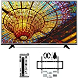 LG 55UH6030 - 55-Inch 4K UHD Smart LED TV w/ webOS 3.0 Flat Wall Mount Bundle includes TV, Slim Flat Wall Mount Ultimate Kit and 6 Outlet Power Strip with Dual USB Ports