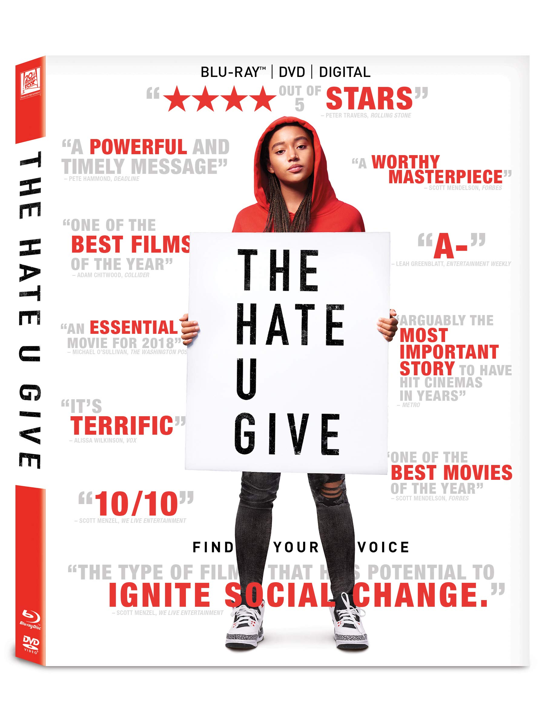 Blu-ray : The Hate U Give (With DVD, Subtitled, Widescreen, Dolby, Digital Theater System)