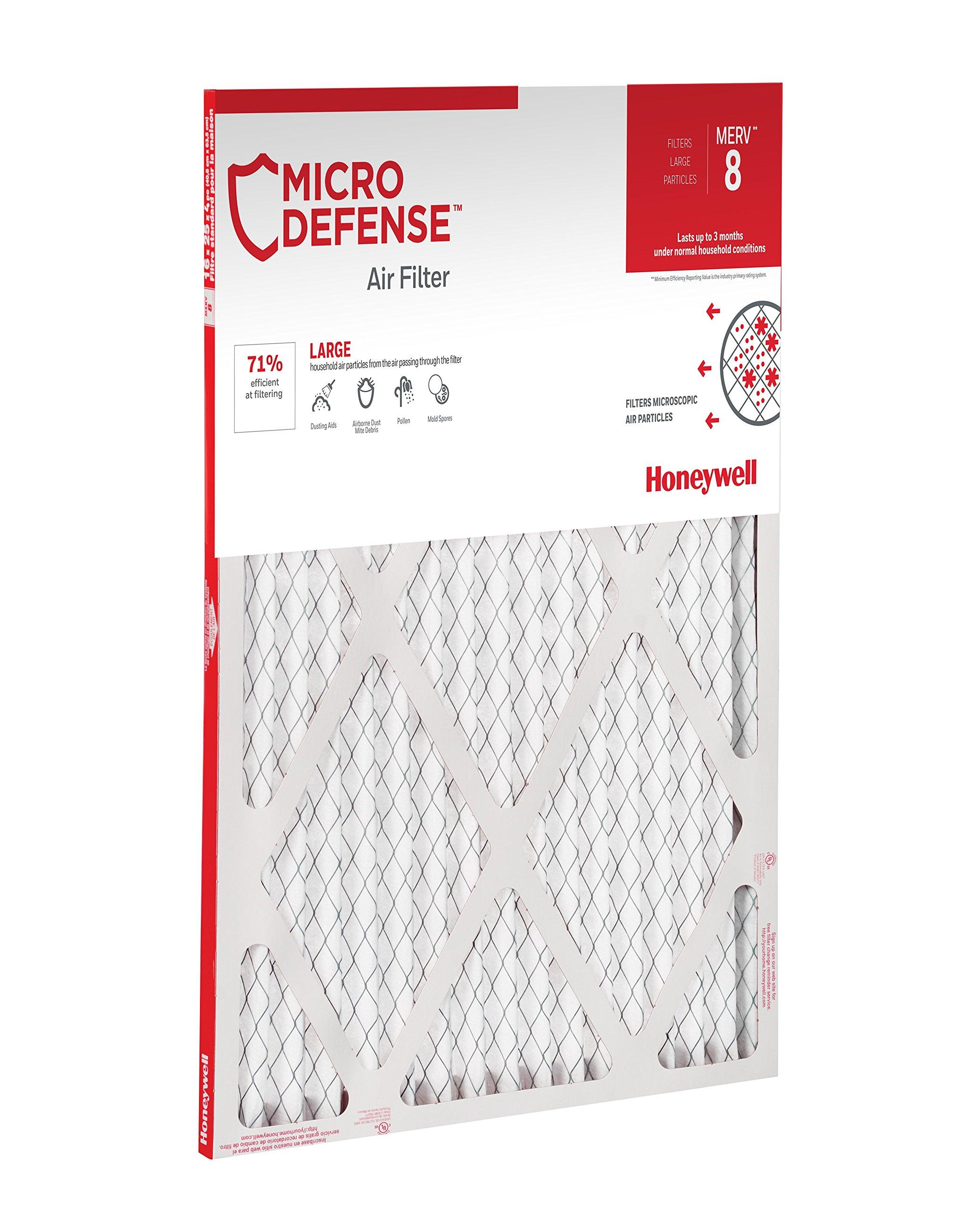 MicroDefense by Honeywell CF108A2025-2PK/C Filter, 1 inch, 20x25, MERV 8, 20x25x1