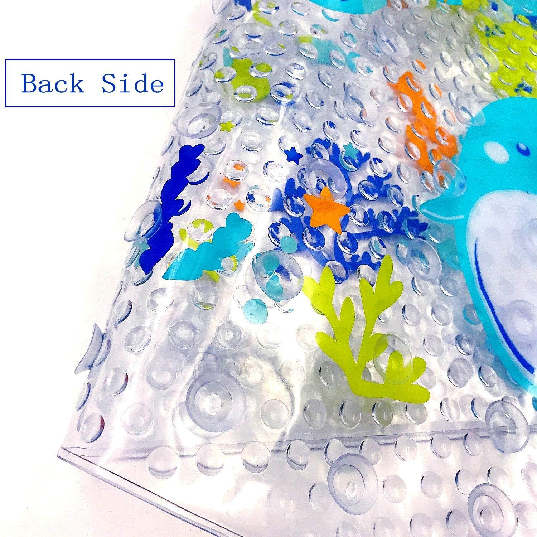 38 cm x 70cm JZK Alfombrilla de ba/ño Alfombra ba/ñera Antideslizante para ni/ños con ventosas Alfombra Piso para ba/ño Antibacterial Resistente al Moho
