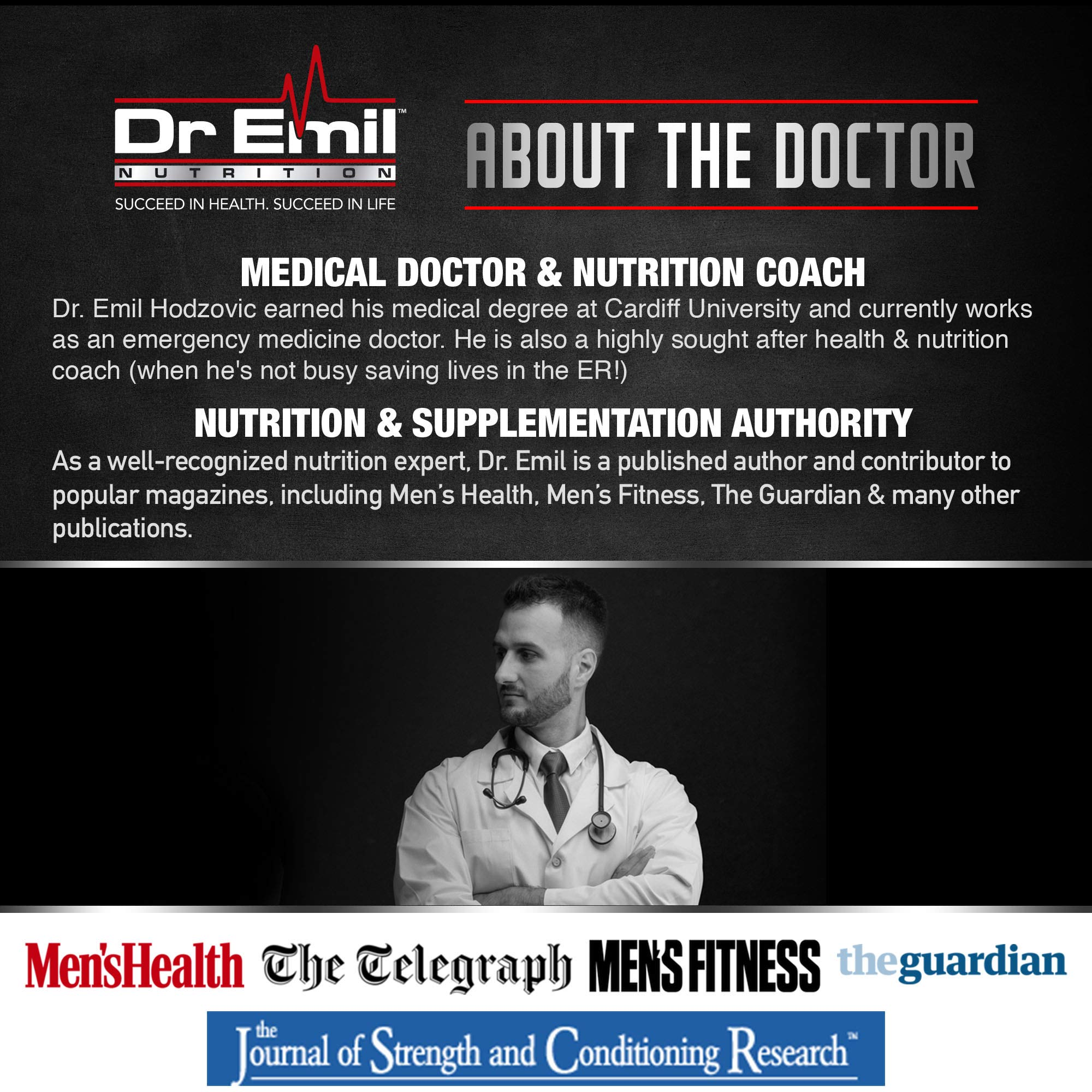 Dr. Emil - PM Fat Burner, Sleep Aid and Night Time Appetite Suppressant - Stimulant-Free Weight Loss Pills and Metabolism Booster for Men and Women (60 Vegan Diet Pills) by DR EMIL NUTRITION (Image #3)