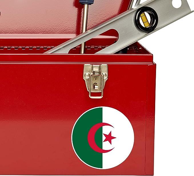 Akachafactory Autocollant Sticker Voiture Moto Gant de Boxe Drapeau JDM Algerie algerien r2