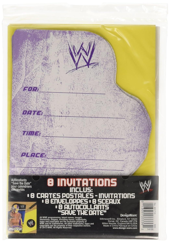 Amazon.com: WWE Wrestling Invitations w/ Envelopes (8ct): Toys & Games