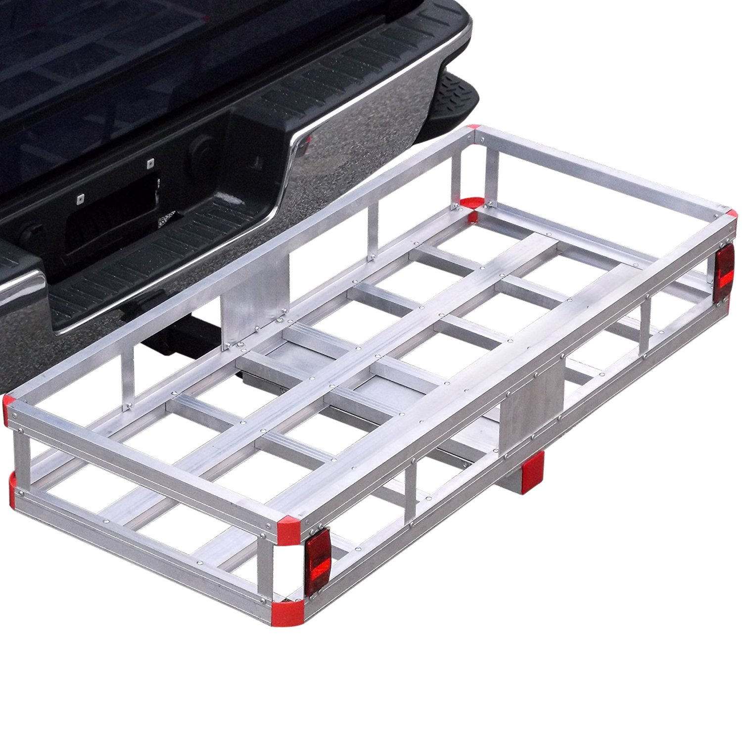 Bumper Hitch Cargo Carrier Basket 500lb Capacity for 2'' Reveiver with Hitch Pin for Truck SUV Van Car by Red Hound Auto