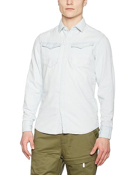 G-Star Arc 3D Shirt l/s, Camisa Para Hombre, Verde (Dk Shamrock 7159), Small G-Star