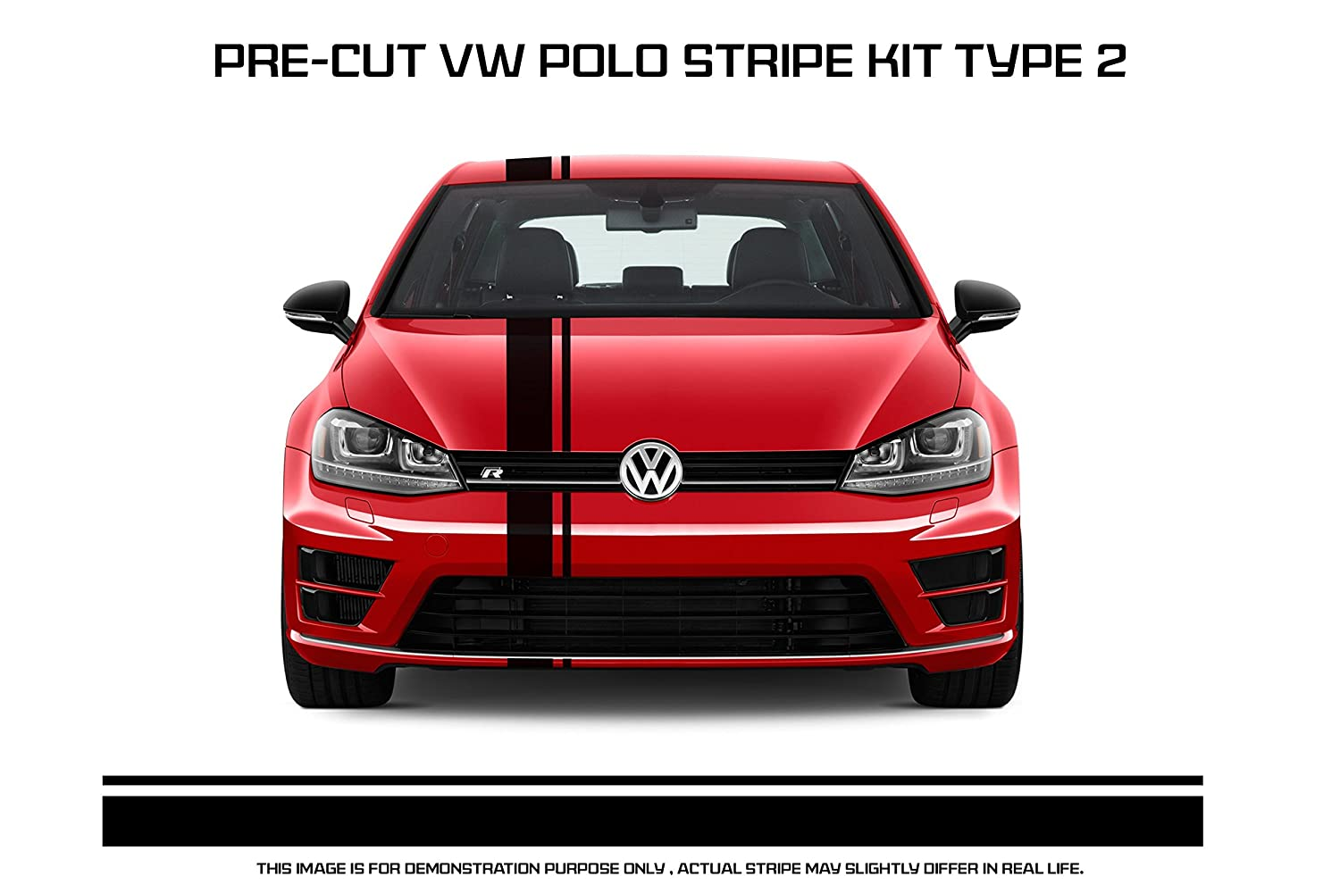 Vw polo racing stripe type 2 amazon in car motorbike